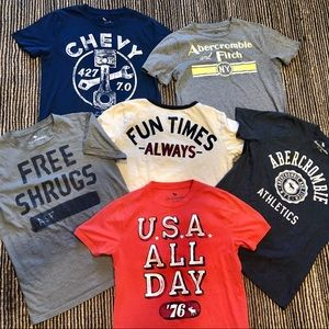 Abercrombie kids bundle of 5 tees and 1 Gymboree T